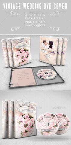 Vintage Wedding DVD Cover design