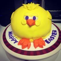 Fat chick Easter Cake   www.sinfullysanders.com