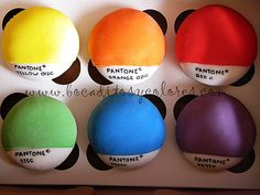 Pantone cupcakes - @Holly Perkins, if i baked, you would so have these tomorrow!