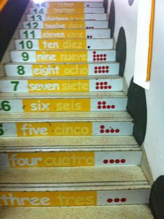 lovely counting stairs from one of our SEK learning space project schools in Spain