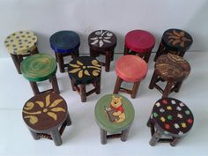 These all miniature tables are made with waste xerox papers.
