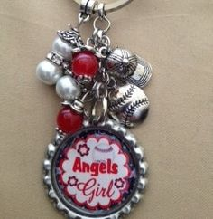 Check out this shop! So much variety and so well priced! I'm obsessed!    Anaheim Angels Inspired Key Chain by AmyDawgsBoutique on Etsy, $6.00