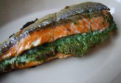 Zöldfűszeres kötözött lazac Asparagus, Sushi, Pork, Vegetables, Cooking, Ethnic Recipes, Kale Stir Fry, Kitchen, Studs