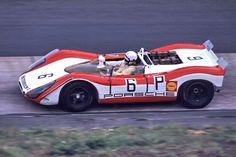 Rudi Lins/Dick Attwood Porsche 908/02, 1969 Nurburgring 1000K