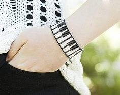 Woman Bracelet|for|Woman Gift|for|Girlfriend Gift|for|Music Lover Gift|for|Musician Beaded Bracelet Piano Jewelry Music Jewelry Gift|for|Her