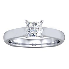 Princess Cut Solitaire Engagement Ring – Euro Shank