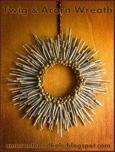 Acorn and Twigs Wreath- spray paint it a cool color