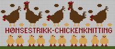 Hønsestrikk - chickenknitting