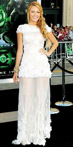 Chanel's latest mademoiselle steps out in the brand, wearing Chanel Haute Couture and Lorraine Schwartz jewelry to the premiere of her flick, Green Lantern.