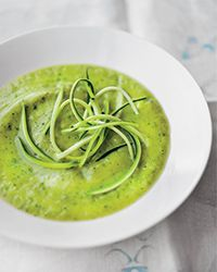 Chef Grant Achatz makes this simple, creamy, sublimely silky zucchini soup without any cream at all.Slideshow: More Zucchini Recipes