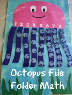 crayonfreckles: octopus math file folder game