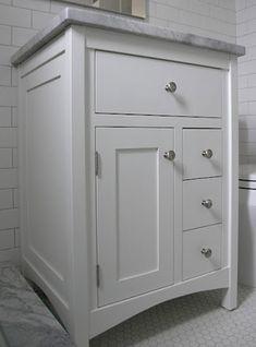Shaker Style Vanity With Two Doors 24 Inch Bathroom Drawers Bath