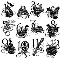 Twelve Days of Christmas Cling Stamp 2 #graphic45 #stamps #christmas