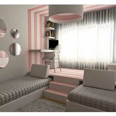 139 Wonderful Modern Small Kids Bedroom Inspirations - Home Decorations Ideas Dream Rooms, Dream Bedroom, Girls Bedroom, Bedroom Decor, Bedroom Ideas, Teen Bedroom Colors, Kid Bedrooms, Kids Bedroom Furniture, Girl Rooms
