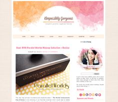 Beauty Blog by Juliene Buelos, via Behance