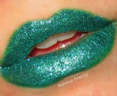 Find all the lips makeup tutorials using different lipstick shades. Learn how to apply lipstick for the best lip looks. Use cosmetic looks, video guides and tips. Neon Lips, Glitter Lips, Bold Lips, Glitter Makeup, Lipstick Art, Lip Art, Lipsticks, Makeup Dupes, Lip Makeup
