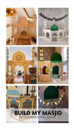 Eid Crafts, Ramadan Crafts, Safari Decorations, School Decorations, Ramadan Activities, Craft Activities For Kids, Decoraciones Ramadan, Ramadan Sweets, Ramadan Lantern