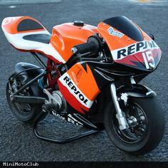 Repsol Honda RSR Mini Pocket Bike Motorcycle