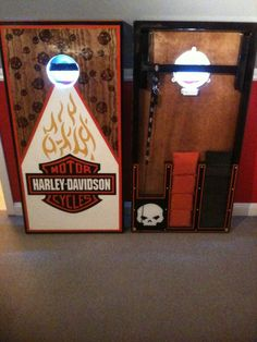 harley davidson cornhole boards check out mcb @ www.facebook