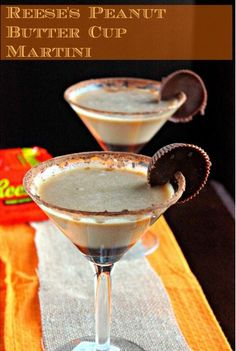 Reese's Peanut Butter Cup Martini ... The ultimate adult dessert!