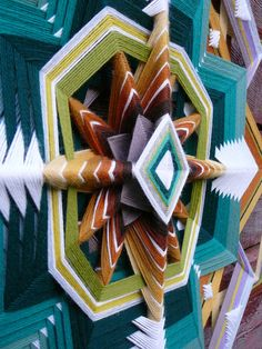 Dancing for God a 32 inch 12sided Ojo de Dios by JaysMandalas