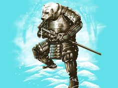 Spirit Of White Samurai Shirt By Fourscore