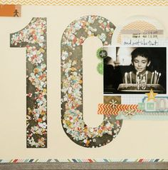 This use of a silhouette + confetti for enlarged numbers is so awesome by @gluestickgirl.