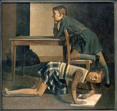 Balthus    The Blanchard Children    1937    Oil on canvas    125 x 130cm