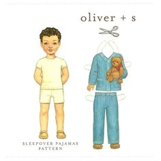 Sleepover pajamas sewing pattern for boys by Oliver + S, available at www.chadwickheirlooms.com