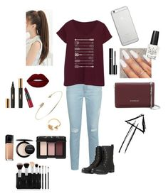 """""""Untitled #47"""" by oompaloompa366789 on Polyvore featuring AG Adriano Goldschmied, LC Trendz, Yves Saint Laurent, Lime Crime, Rimmel, OPI, Givenchy, mizuki, Native Union and Maybelline"""