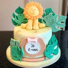 Sugar Art, Bebe Shower, Little Cakes, Fondant Cakes, Mini Cakes, Party Time, Birthday Cake, Bolo Fake, Desserts