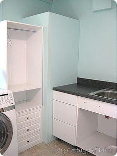 Hidden Hot Water Heater - using hollow core doors.
