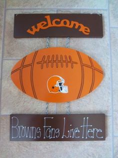 New Cleveland Browns Football Welcome Sign
