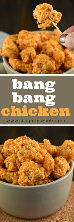Marvelous Bang Bang Chicken is an easy, weeknight dinner idea with a tangy, yet sweet sauce! This recipe calls for baking NOT frying the chicken, easy clean up! The post Bang Bang Chicken appeared first on MIkas Recipes . Bang Bang Chicken, Bang Bang Shrimp, Bang Bang Cauliflower, Weight Watcher Desserts, Cooking Recipes, Healthy Recipes, Grilling Recipes, Healthy Food, Sweet Sauce