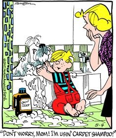 "Hank Ketcham's classic ""Dennis the Menace"" chronicles the pranks of the mischievous title character."