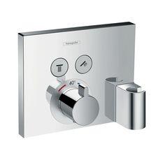 Bateria termostatyczna ShowerSelect dla 2 odbiorników z Fixit i Porter, montaż podtynkowy, element zewnętrzny