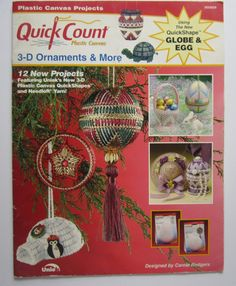 Cover Only Plastic Canvas Patterns  3-D ORNAMENTS & MORE Quick Count Igloo Jewelry Box Hat More NCS-530291-