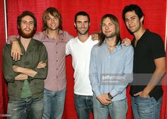Maroon 5 is seen in their dressing room after rehearsing for the 2004 World Music Awards on September 13, 2004 at the Thomas & Mack Center in Las Vegas, Nevada. The show is being broadcast live from Las Vegas on September 15 for the first time after being held in Monte Carlo for 15 years.