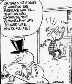 """Not a glass of water. - """"Reality Check"""" by Dave Whamond; Funny Cartoons, Funny Comics, Funny Jokes, That's Hilarious, It's Funny, Christmas Jokes, Christmas Cartoons, Xmas, Christmas Doodles"""