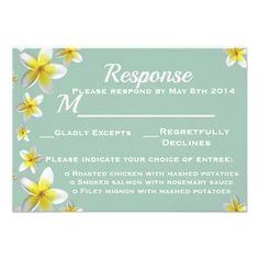 RSVP Wedding Invitation Response Card Teal