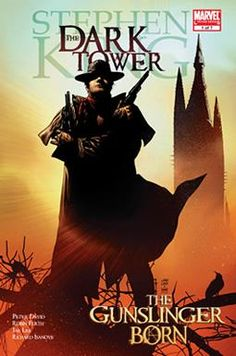 "Graphic Novel: ""The Dark Tower: The Gunslinger Born"" ... is an adaptation of Stephen King's fourth Dark Tower novel, Wizard and Glass. It tells the story of Roland Deschain, a gunslinger apprentice who is goaded by his father's treacherous sorcerer into facing his coming-of-age test at the unheard-of age of fourteen."