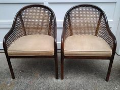 Caned Barrel Chairs $125