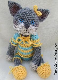 Amigurumi Crochet Pattern Darling Cat by Teri Crews