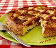 Torta di ricotta con marmellata di fichi, ricetta senza burro