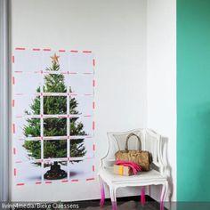 Das gerasterte Weihnachtsbaumfoto ist eine originelle Idee für die nächste Weihnachtsdeko. Dazu noch ein braunes Schaffell und schon stimmt die Winterstimmung. …