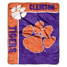 NCAA Raschel Clemson University Tigers School Spirit Throw
