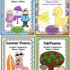 This collection of 64 poems is great for student reading and supports many CCSS standards.  This is a bundled collection of the winter, spring, sum...