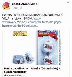 FORMA PAPEL HOMEM ARANHA (50 UNIDADES) VEJA na foto em BAIXO: http://www.akademiamais.com/produto/forma-papel-homem-aranha-50-unidades/