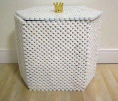 Como hacer cajas con tapas de gaseosa