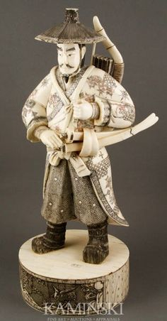 Japanese Bone Samurai Figure